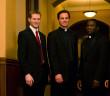 Msgr. Lajiness with Seminarians Sacred Heart Major Seminary
