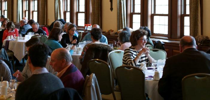 Alumni receive spiritual nourishment from Lenten evening of reflection.